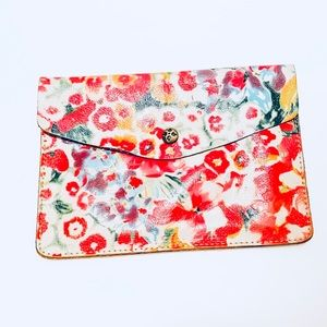 Patricia Nash Floral Leather Clutch